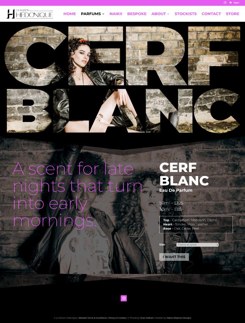 Hedonique CerfBlanc