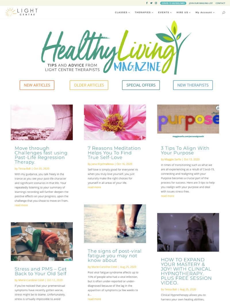 Light Centre Healthy Living Magazine
